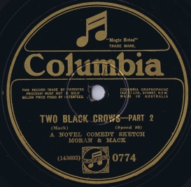 Recorded in New York on 14/3/1927. From the collection of Douglas Paisley.