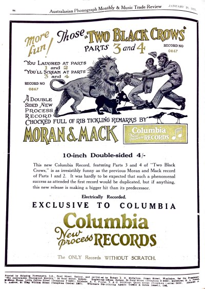 Australasian Phonograph Monthly & Music Trade Review, January 20, 1928.