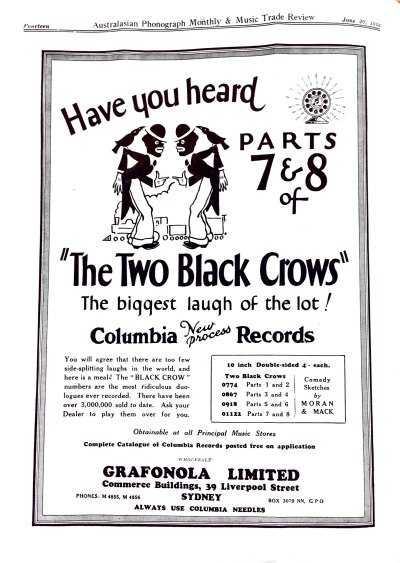 Australasian Phonograph Monthly & Music Trade Review, June 20, 1928.