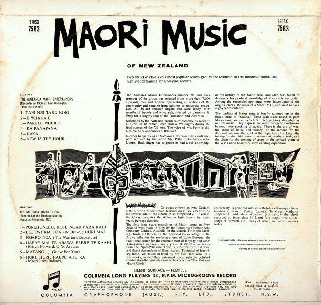 Maori Back Cover