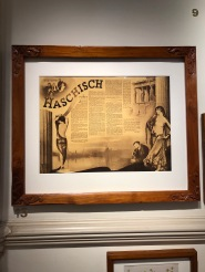Photo of the original framed article on display in the Barcelona Museum of Hash, Marijuana & Hemp